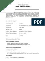 Curriculum Vitae Jeiner (Jeine Pardo Peres)