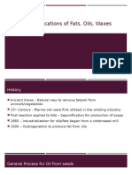 Industrial Applications of Fats Oils Waxes