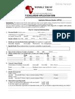 DAFI 2015 Scholarship Application Form - Online