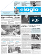 Edición Impresa Elsiglo 28-09-2016
