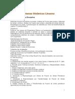 Analise de Sistema Dinamicos Lineneares