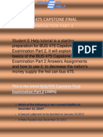 Studentehelp - BUS 475 Capstone Final Examination Part 2