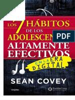 Los 7 HA!Bitos de Los Adolescen - Sean Covey