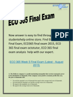 ECO 365 final exam octotutor