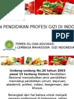 Kajian Pendidikan Profesi Gizi Indonesia
