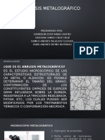 Analisis Metalografico.