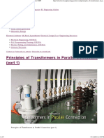 Parallel Transformer Different Conditions