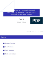 Note3 Applications of Linear and Quadratic Functions to Demand and Supply Functions (2)