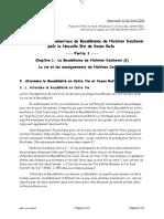 Etude. Principes Fondamentaux Du Bouddhisme de Nd Pour La Nouvelle Ere de k r . Avril 2016. Partie 1. n3