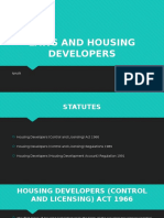 Laws and Housing Developers