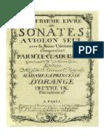 Leclair Violin Sonates Op.9 Pn