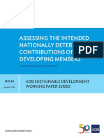 NAMAs and INDCs Training_ADB SD Working Paper Series_Assessing INDCs of ADB Developing Members