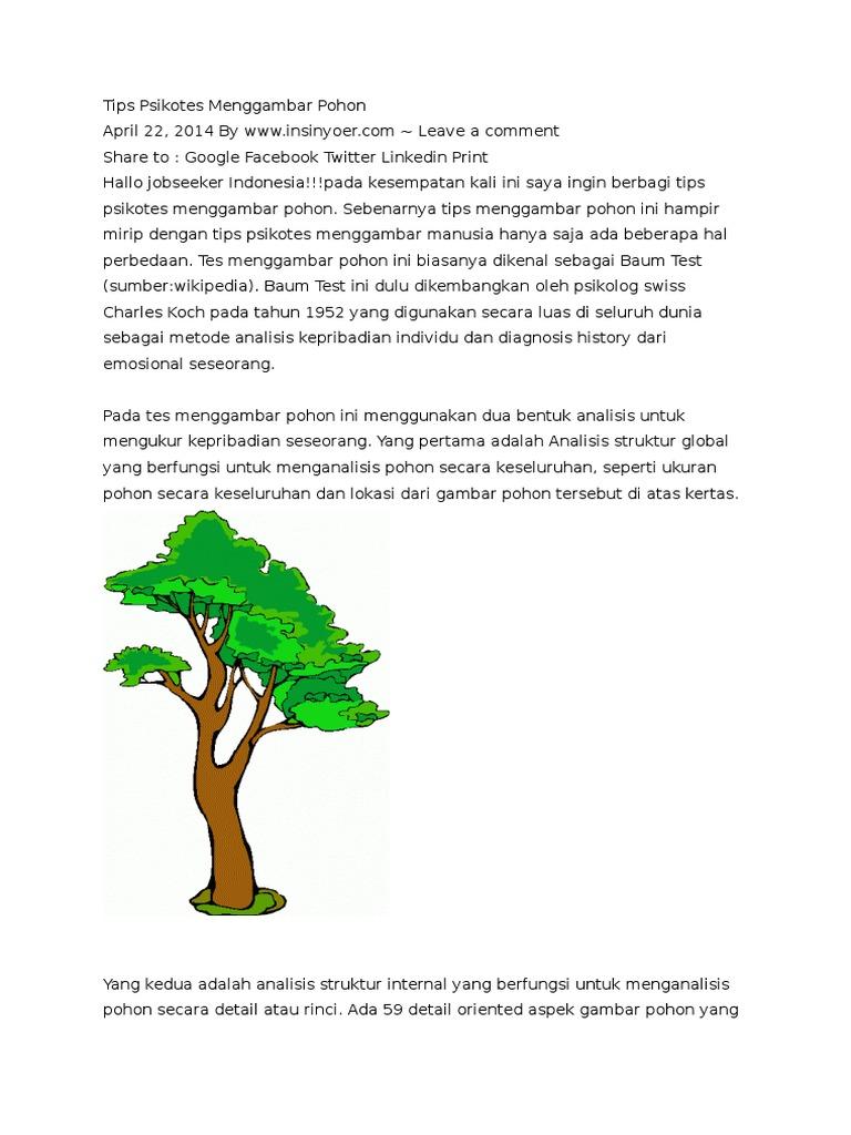 Tips Psikotes Menggambar Pohon Docx