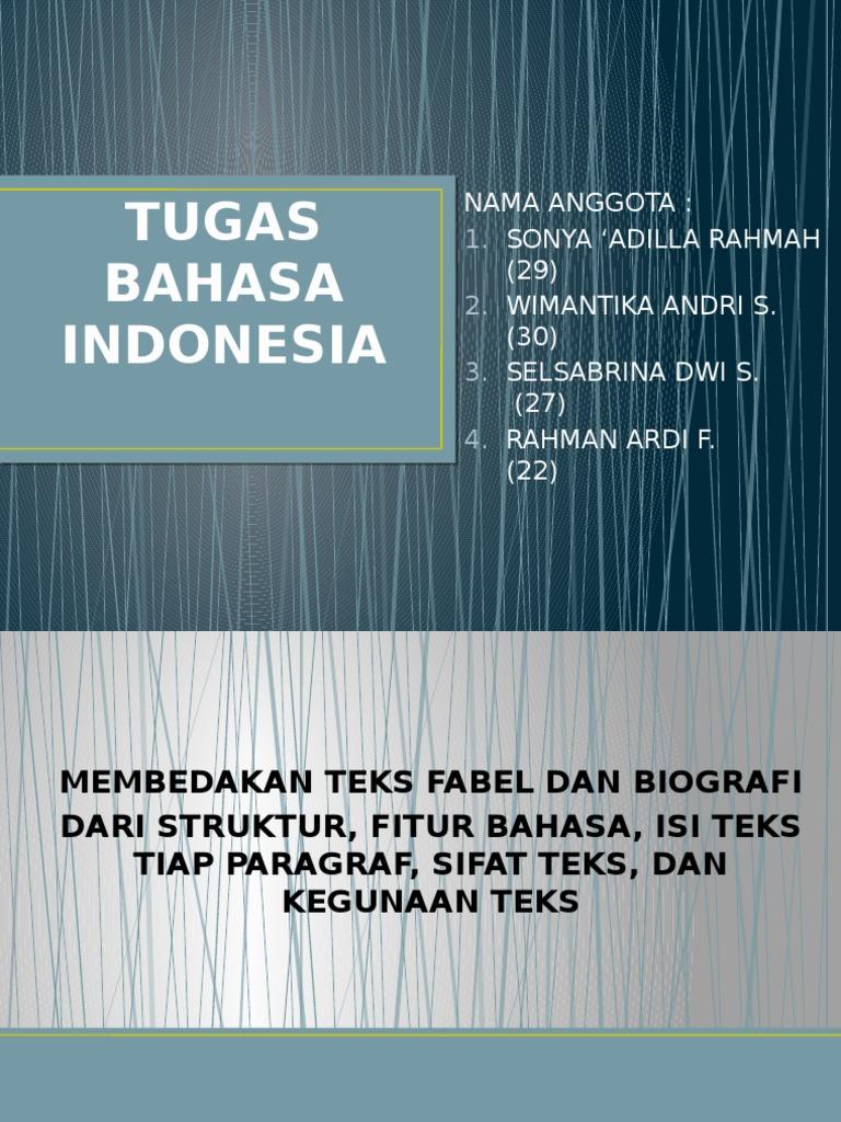 Tugas Bahasa Indonesia Pptx