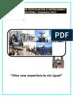 Formulario de Postulacion a Intercambio 2017
