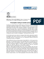 BDB .presumption Resting on Another Presumption