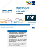 Hydrogen and Fuel Cells Training_1 - S Kollamthodi - Overview of Hydrogen and Key Drivers and Barriers for Deployment in Transport