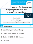 Hydrogen and Fuel Cells Training_8 - M Masuda - Funding and Support for Deployment of Hydrogen and Fuel Cells - Japan's Perspective