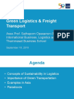 Green Freight Training_01 - S Opasanon - Green Logistics and Freight Transport
