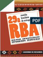 Caderno de Resumos 29RBA
