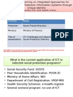 ICT Challenges and Opportunities for Social Protection Delivery