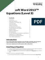 Equations 2013