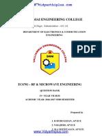 EC6701-RF and Microwave Engineering