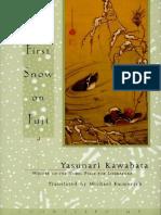 Kawabata, Yasunari - First Snow on Fuji (Counterpoint, 1999)