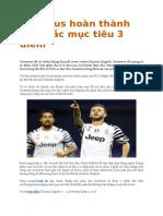 Juventus Hoàn Thành Xuất Sắc Mục Tiêu 3 Điểm