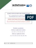 21-Manuale Elenco Filtri Di Rete e Reattanze_rev5