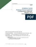 ZXMSG 5200 Multiplex ServiceSIP