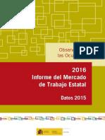 Informe del Mercado de Trabajo Estatal 2016