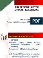 Prespektif Sistem Informasi Kesehatan