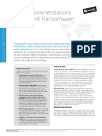 Ransomware Prevention Recommendations