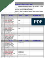 Listados Extraescolares 28-09-16