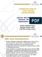 Financing SME to Fuel Faster Development