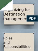 Chapter 8-Organizing Destination Mgt.
