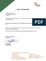 Surat Bakrie Pipe Industries