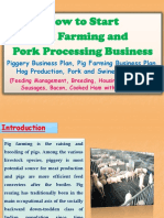 How to Start Pig Farming and Pork Processing Business, Piggery Business Plan, Pig Farming Business Plan, Hog Production, Pork and Swine Production (Feeding Management, Breeding, Housing Management, Sausages, Bacon, Cooked Ham with Packaging)
