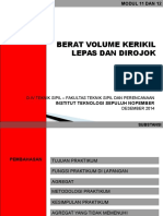 Presentasi Berat Volume Kerikil