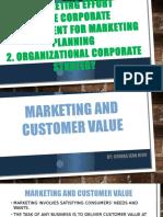Organizing the Marketing Report