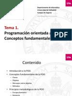 Tema1_POO Conceptos Fundamentales de La POO 2016-17