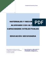 RECURSOS ALTAS CAPACIDADES