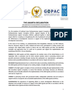 Jakarta Declaration on Development Effectiveness to Implement the SDGs