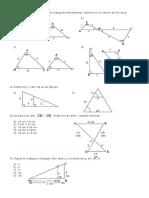 Lista Semelhança de Triângulos