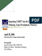 Integrating CobiT Domains Into the IT Audit Process