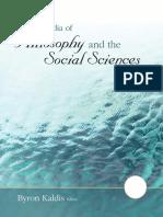 Byron Kaldis Encyclopedia of Philosophy and the Social Sciences