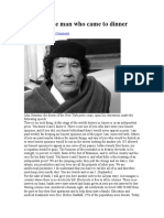 Gaddafi the Man Who Came to Dinner