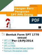 Sosialisasi Form SPT 1770 Sesuai Per 19