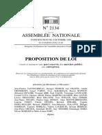 Proposition de Loi 2134 Instauration d'Une Part Réservée Des MP Au PME
